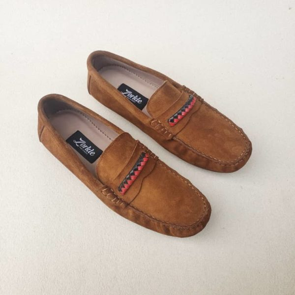 Tade Culture Loafers Brown Suede ZMS120 - Zorkle Shoes