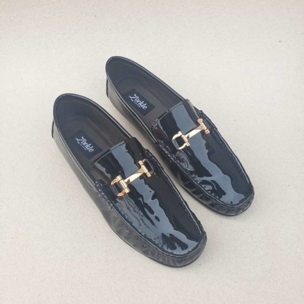 Fegz Loafers Black Leather ZMS123 - Zorkle Shoes
