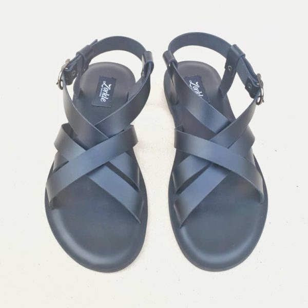 Gilda sandals black leather ZMD054 - Zorkle Shoes