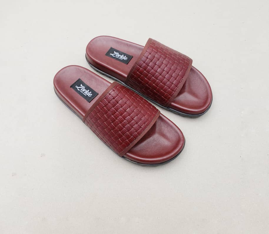 Borlu Leather Slippers Wine ZMP125
