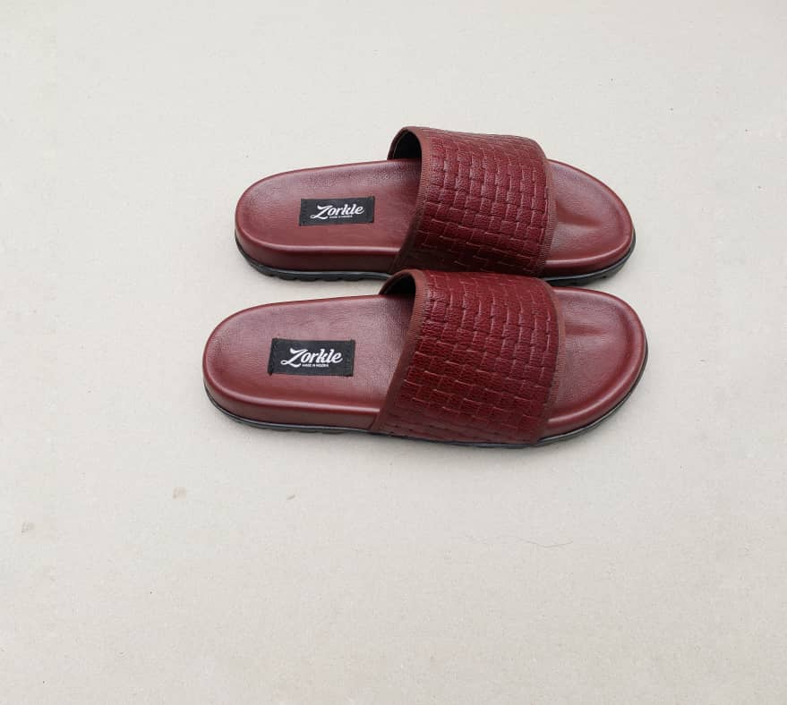 Borlu Leather Slippers Wine