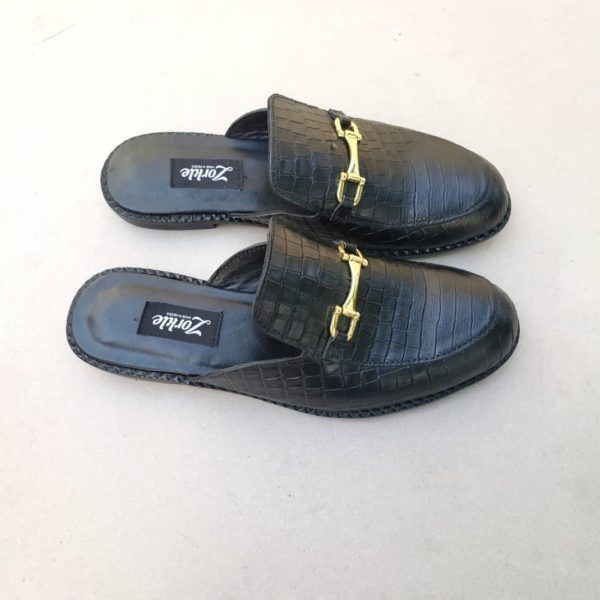 Geng Black Mules ZMS128 - Zorkle Shoes
