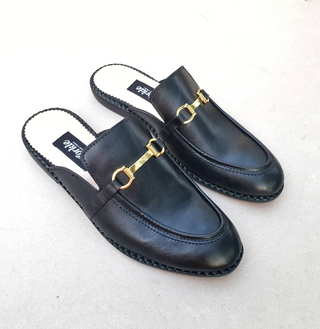 Toyor Black Mules ZMS128 - Zorkle Shoes