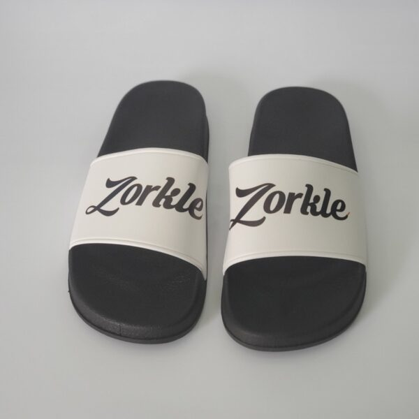 Bazato slides Blacka and White ZMP131- Zorkle Shoes
