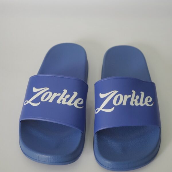 Bazato Slides Blue ZFP086- zorkle shoes