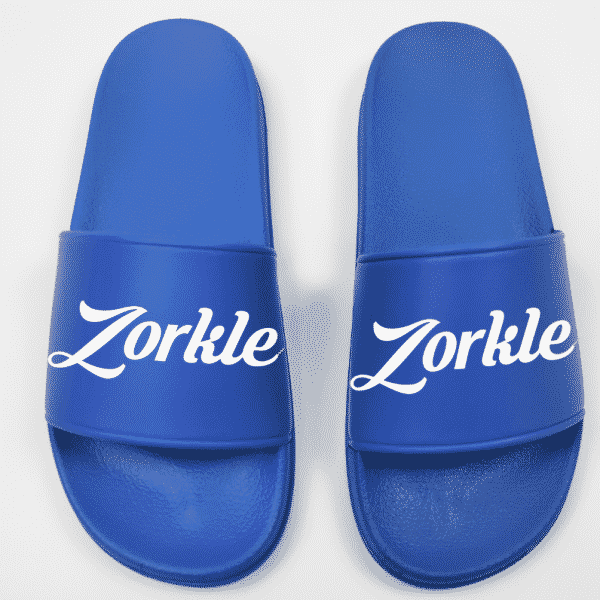 Bazato slides blue ZMP129 - Zorkle Shoes