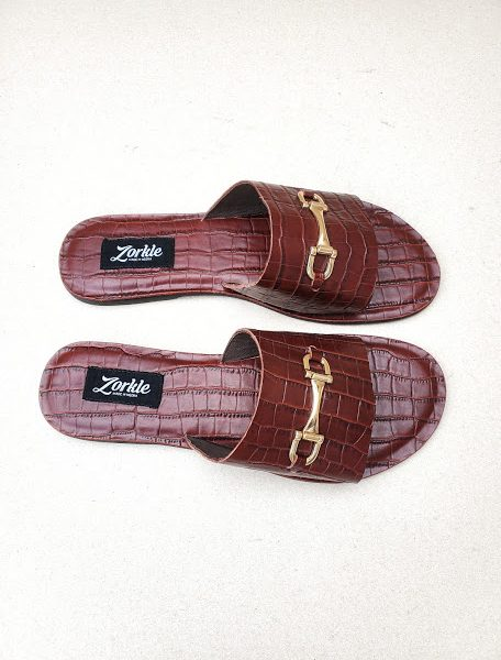 Lami Coffee Brown Slippers ZFP092- zorkle shoes