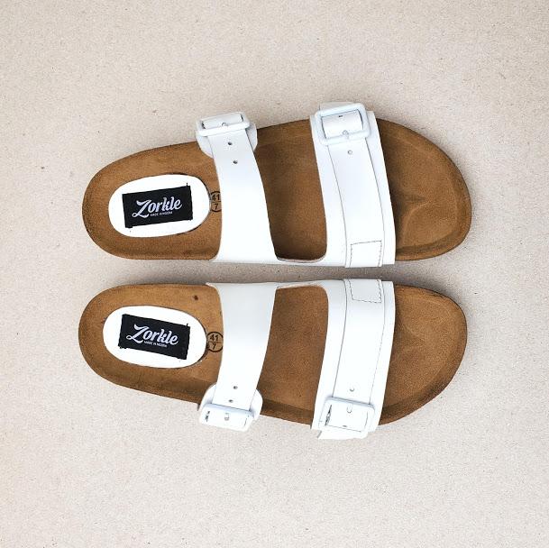 Derin Slippers White ZMP140 - Zorkle Shoes