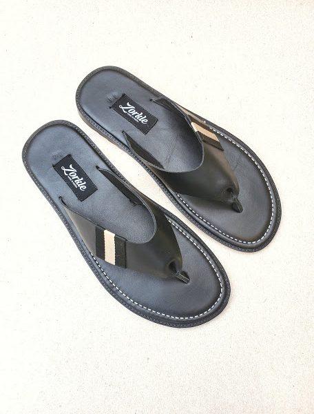Baloma Slippers Black Leather ZMP139 - Zorkle Shoes