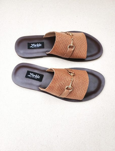 Ugo Slippers Brown ZMP144 - Zorkle Shoes