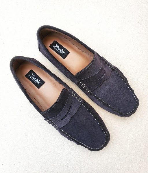 Tade Loafers Grey Suede ZMS131 - Zorkle Shoes