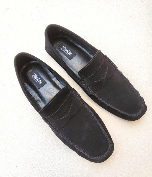 Tade Loafers Black Suede ZMS130 - Zorkle Shoes