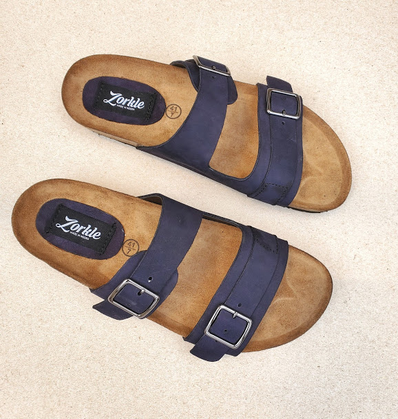 Derin Slippers Blue ZMP141 - Zorkle Shoes