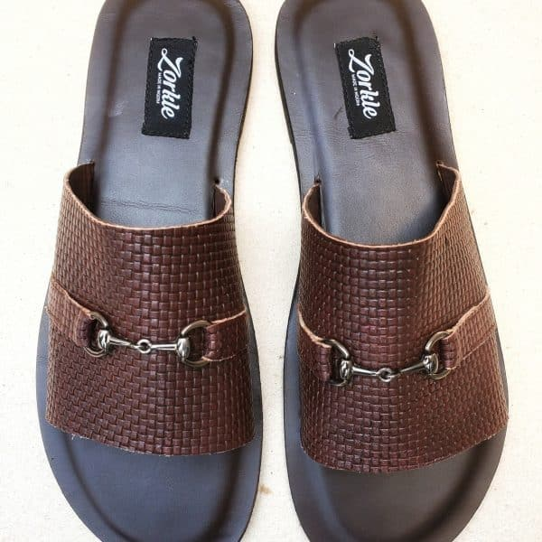 Ugo Slippers Coffee Brown ZMP147 - Zorkle Shoes