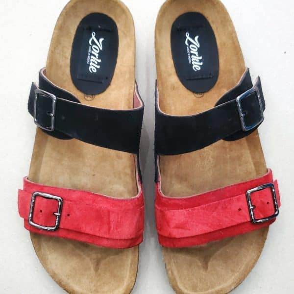 Derin Slippers Black and Red ZMP150 - Zorkle Shoes