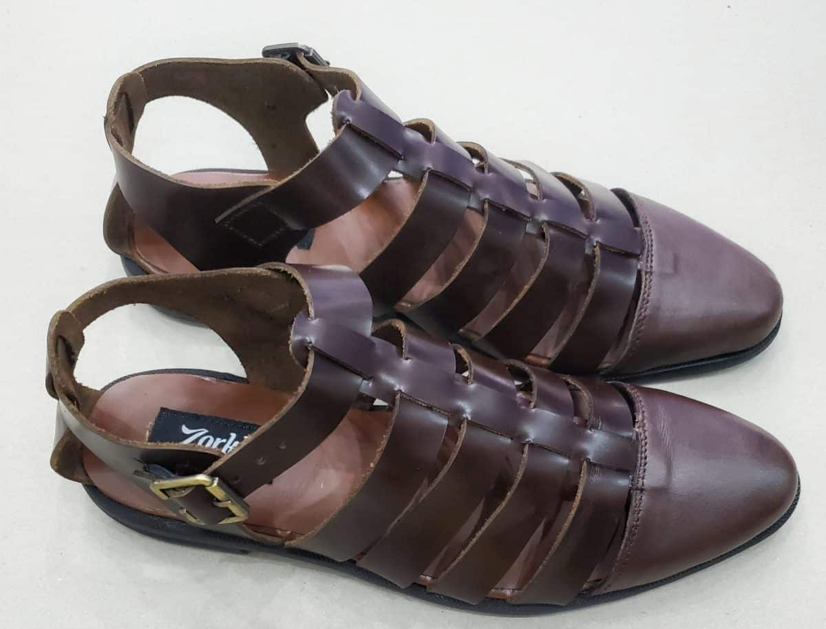 Freddo Sandal Coffee Brown ZMS133 - Zorkle Shoes